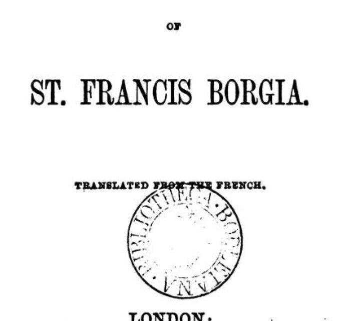 The Spiritual Exercises of St Francis Borgia