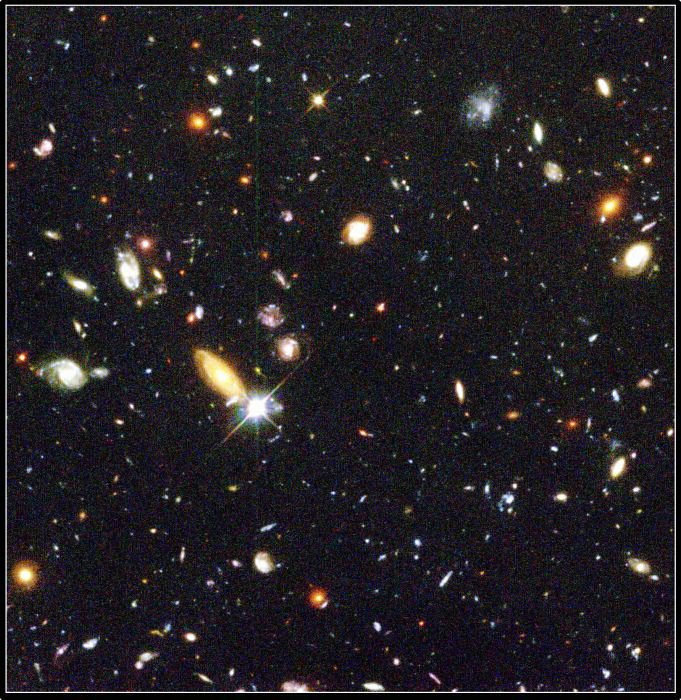 Hubble telescope image of galaxies. (NASA)