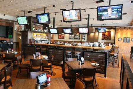 TVs in restaurant